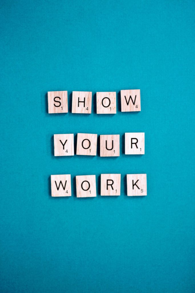 show your work quote